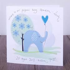 personalised handmade new baby grandparents cards