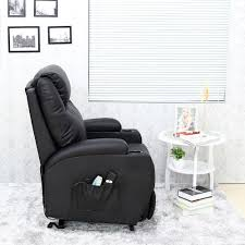 cinemo elecrtic rise recliner leather massage heat armchair sofa