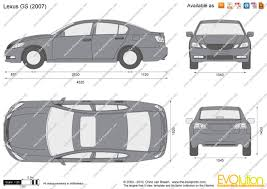 lexus es model years the blueprints com vector drawing lexus gs