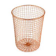 copper waste basket