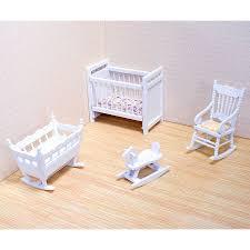 melissa u0026 doug classic wooden dollhouse nursery furniture 4pc