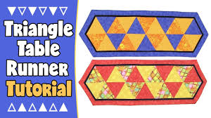 halloween table runner quilt pattern quilted triangle table runner tutorial no binding youtube