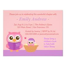 pink owl baby shower invitations book themed baby shower invitations dancemomsinfo com