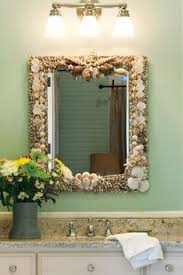 Beachy Bathroom Mirrors by Bathroom Mirror Redo Sea Shells What To Do And All
