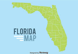 florida map florida map on blue background free vector stock