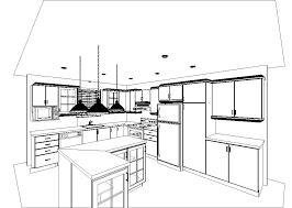 cuisine en perspective décoration intérieure et étalage plan perspective cuisine