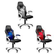 chaise de bureau racing chaise de bureau racing gaming bleu ou gris mchaus ebay