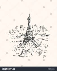 eiffel tower paris france urban sketch stock vector 312929927