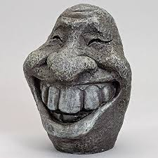 smiley polyresin garden statue ornament for