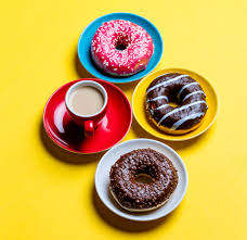 photos chocolate donuts coffee cup food plate saucer pastry colored