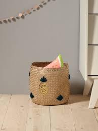 chambre en osier vase soliflore plateau rond objet déco cyrillus