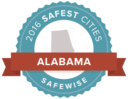 Montgomery Al Zip Code Map by The 20 Safest Cities In Alabama U2014 2016 Safewise