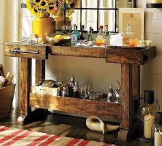 Wetbar Wooden Rustic Furniture Console Table Using For A Small Wet Bar