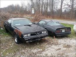 Muscle Car Barn Finds Barn Find Twin U002777 Pontiac Trans Ams Parked On The Side Of The
