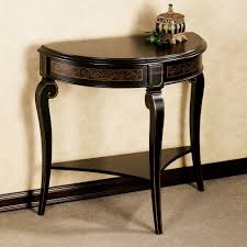 black entry hall table furniture licious black half moon entry table best decoration