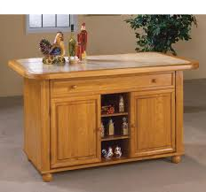 sunset trading light oak finish kitchen island with beige khaki