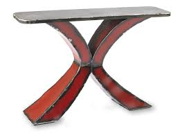 X Console Table Steel Top X Console Table By Ben Gatski And Kate Gatski Metal