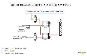 how to wire led light bar to high beam light bar wire diagram cree wiring amazing edge on led fancy with