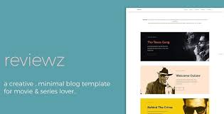 reviewz responsive film series review blog template by thecreo