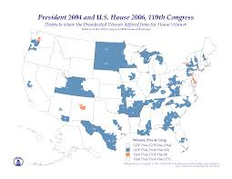 2004 Presidential Election Map by Polidata Election Maps Presidential Results By Congressional
