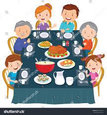 thanksgiving dinner image thanksgiving dinner family dinner happy extended stock vector