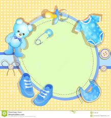 blue baby shower welcome new baby boy royalty free stock photo image 20560095