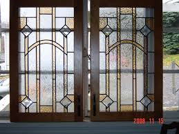 decorative glass inserts for doors wrought iron stained door