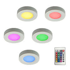puck lights with remote illume lighting rgb led pucks light kit with plug in driver and