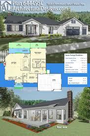 modern farm house plans plan 64449sc stylish farmhouse ranch house plan architectural