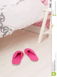 slippers under the bed stock photo image 61313078