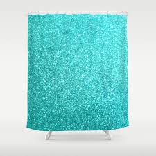 Aqua Blue Shower Curtains Aqua Blue Glitter Shower Curtain By Podartist Society6