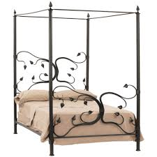 wrought iron bed frames brown bedding bed canopy quecasita