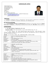 Instrumentation Project Engineer Resume 1 Cv For Sr Instrument Technician In 8 Years Exp