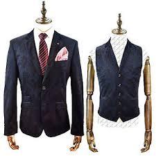 mens cavani designer velvet blazer waistcoat smart formal dinner