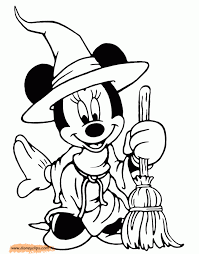 minnie mouse halloween coloring pages inspirational 2890