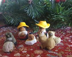 pottery nativity etsy