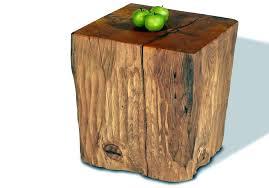 tree stump accent table reclaimed wood stump table natural creations reclaimed wood stump