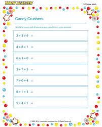 candy crushers u2013 free addition pdf for 3rd grade u2013 math blaster