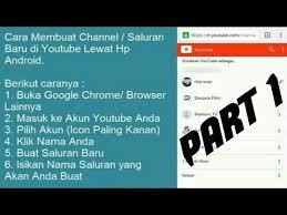 membuat akun youtube di hp cara mudah membuat akun channel youtube di android youtuber pemula