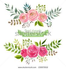 Flowers Designs For Drawing Watercolor Flowers Stock Images Royalty Free Images U0026 Vectors