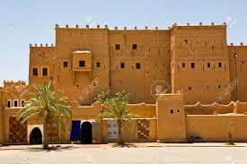adobe pueblo houses fortified adobe houses in the kasbah of ouarzazate morocco stock