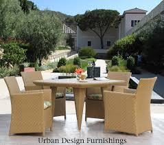 amazon com outdoor patio resin wicker 5pc dining set 48