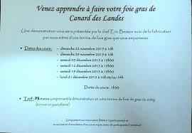 cours de cuisine dans les landes cours de cuisine 2015 le foie gras de canard des landes