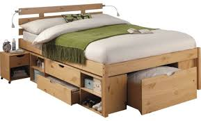 fascinating double bed frame made from high quality material pine