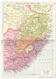 Map South Africa South Africa Union U2013 East Map 1935 Philatelic Database