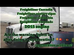 freightliner cascadia warning lights freightliner cascadia dd15 engine regeneration problem fuel dozer