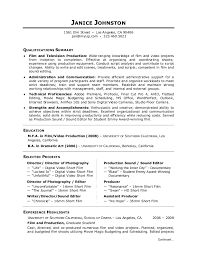 Sample Video Resume by Film Resume Template