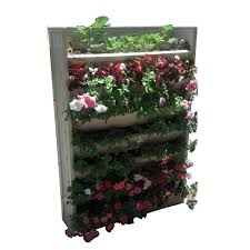 Garden Wall Troughs by Vertical U0026 Wall Planters Pots U0026 Planters The Home Depot