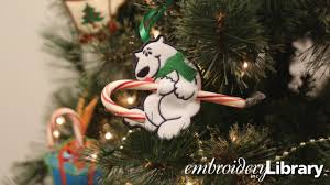 embroidery library videos embroidered candy cane holders in the