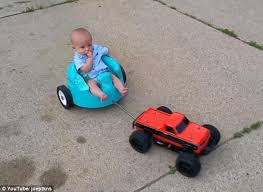 Rc Car Meme - father attaches remote control car to son s baby seat and tows